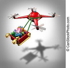 Drone Holiday Delivery - Drone holiday gifts delivery as a...