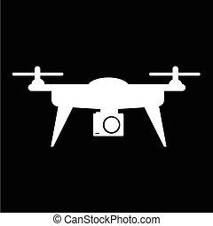 Drone icon illustration design
