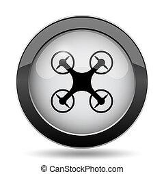 Drone icon. Internet button on white background.