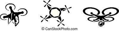 drone icon on white background