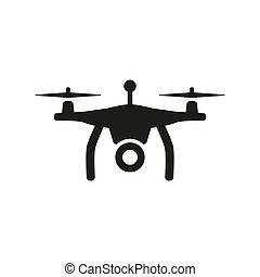 Drone icon on white background.