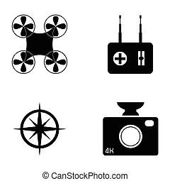 drone icon set