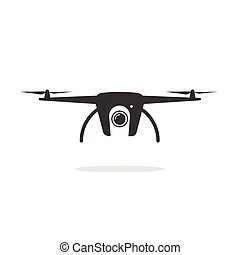 Drone icon shape vector isolated on white background