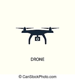 drone icon. Simple element illustration. drone concept symbol design. Can be used for web