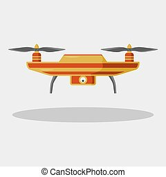 Drone icon with camera.