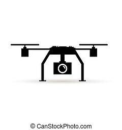 drone in black color art illustration