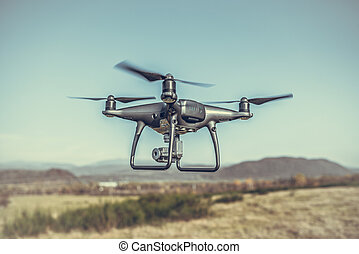 Drone in the air.