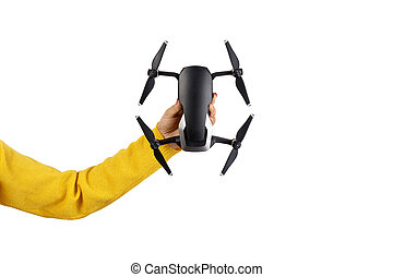 drone in hand