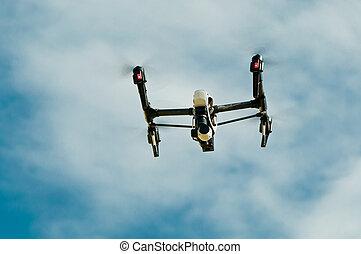 Drone in sky