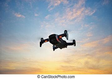 Drone in sky.