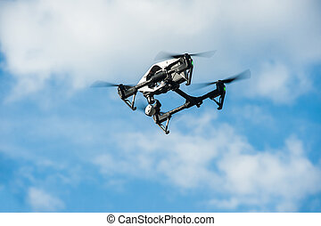 Drone in sky/Selective focus