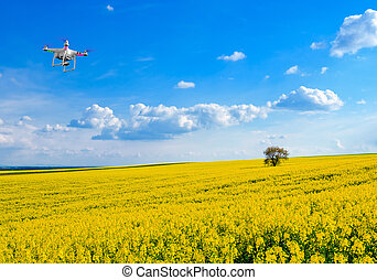 Drone in the sky