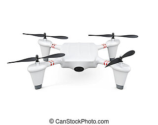 Drone isolated on white background. 3d rendering