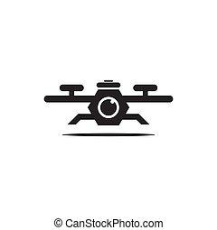 Drone logo icon design template