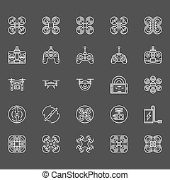 Drone logo set - Drone icons set - vector collection of...