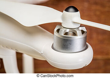 Drone motor and propeller