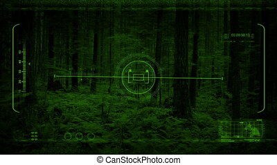 Drone Night Vision Flying Slowly In Forest