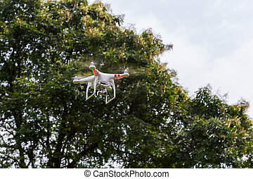 Drone of Quadrocopter with  camera
