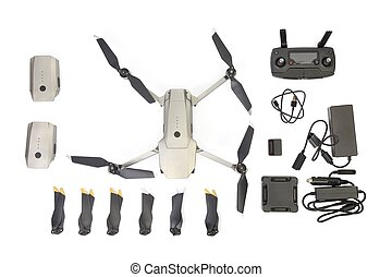 Drone on with different accessories
