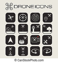 drone or quadcopter icon set
