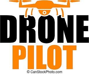 Drone Pilot Icon in orange