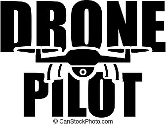 Drone Pilot with flying drone