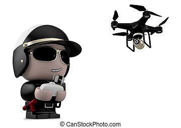 drone., policier