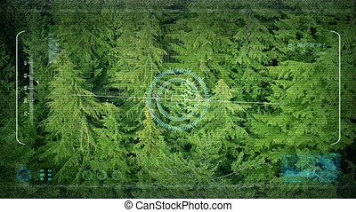 Drone POV Aerial Above Forest Trees - Point of view from a...