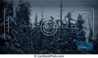 Drone POV Flying Down Mountainside - Night time drone pov...