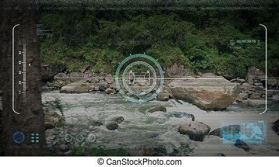 Drone POV Flying Past Jungle River