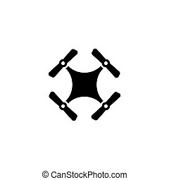 Drone Quadcopter Flat Vector Icon