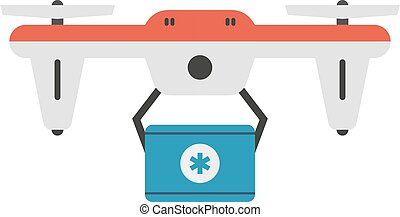 Drone quadcopter vector isolated - Vector illustration...