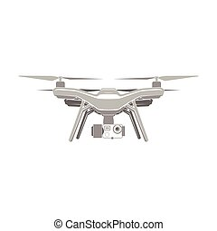 drone quadrocopter aerial icon - drone quadrocopter wireless...