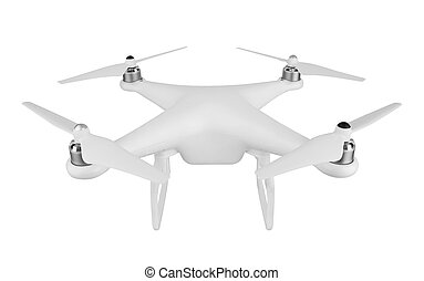Drone, quadrocopter, isolated on white background.