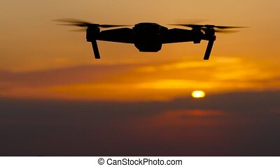 Drone removes a beautiful landscape at sunset - Drone...