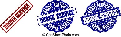 DRONE SERVICE Scratched Stamp Seals