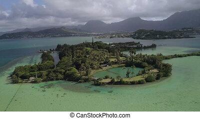 Drone shot an island