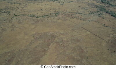 Drone shot of the Australian outback - A moving aeriel drone...