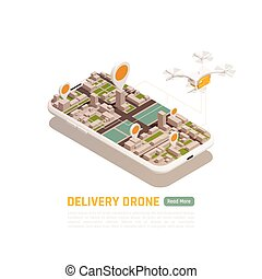 Drone Smart Delivery Background