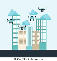 drone technology design, vector illustration eps10 graphic