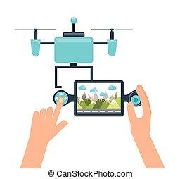 drone technology design, vector illustration eps10 graphic