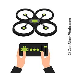 drone technology flying icon