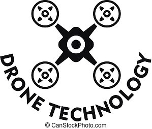 Drone technology logo, simple style