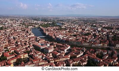 Drone video footage - Leaning Towe of Pisa - Drone video...