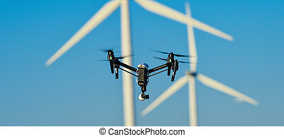 Drone wind farm monitoring Champagne, France - Drone wind ...