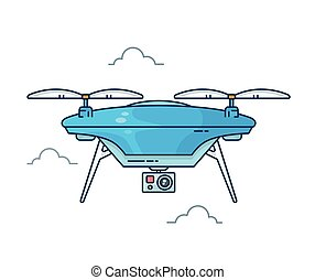 Drone with action camera