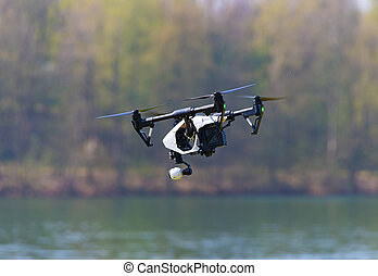 drone with camera attached