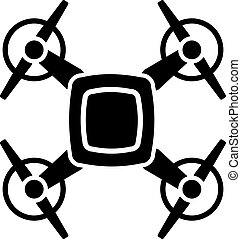 Drone with four propellers icon