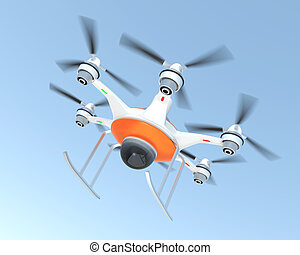 Drone with security camera system