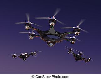 Drone with surveillance camera